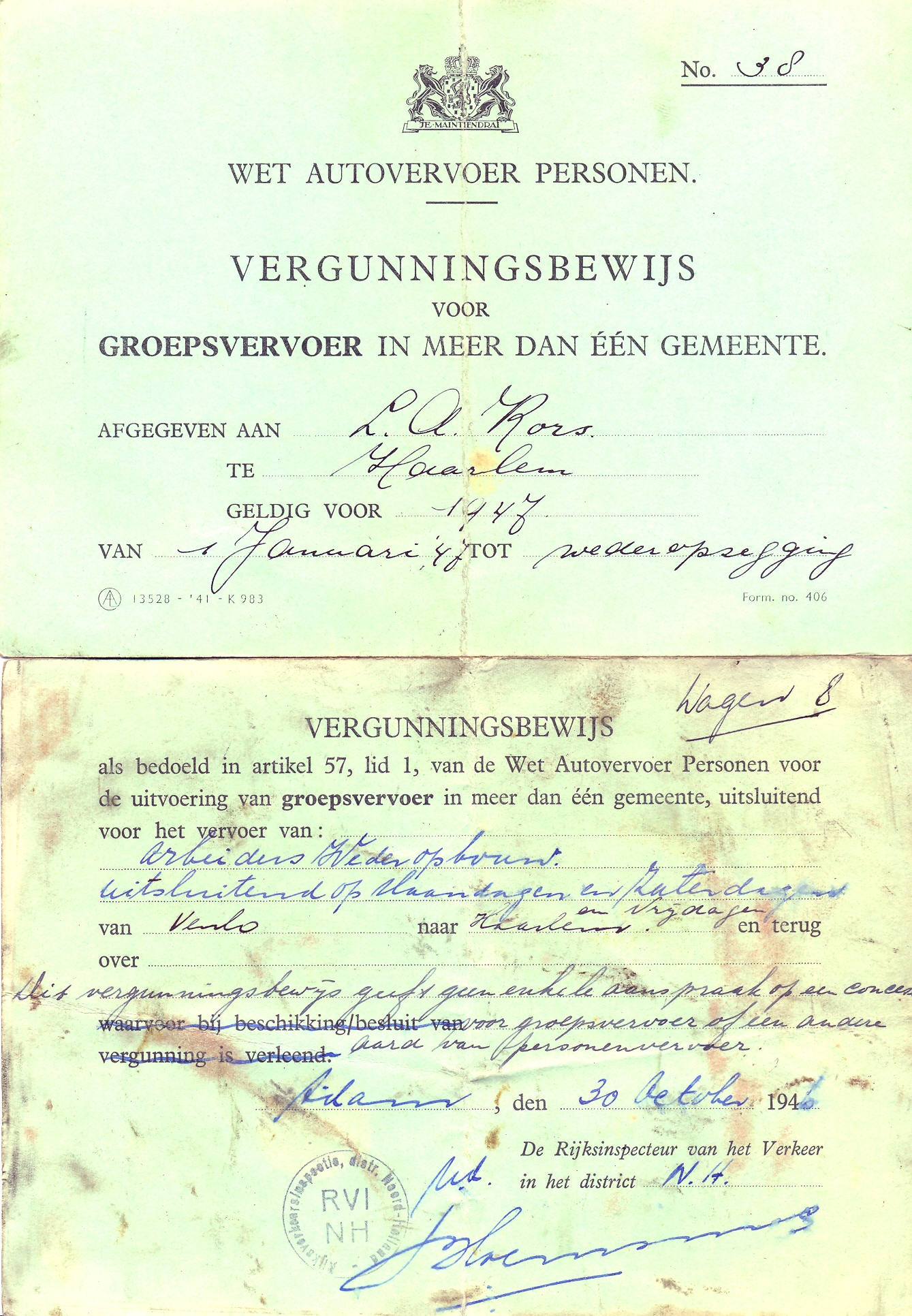 vergunning-1946