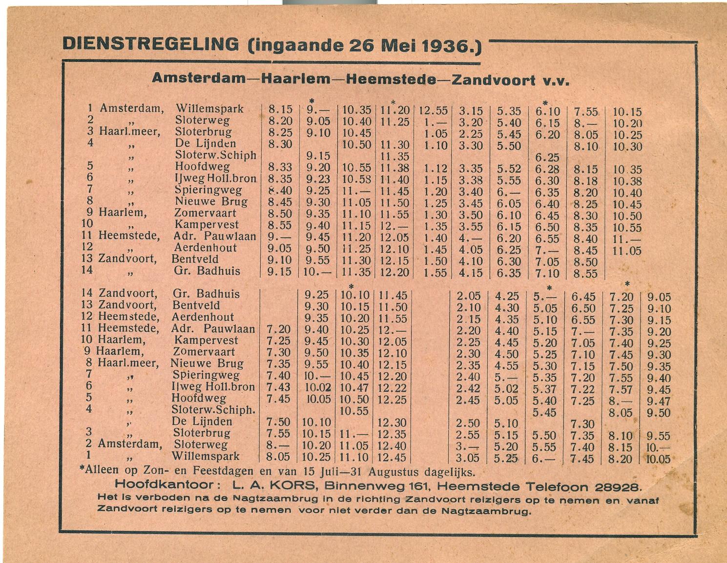 dienstregeling-a-dam-zandvoort-1936