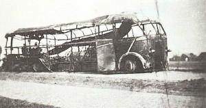 Wrak bus 10 mei 1940